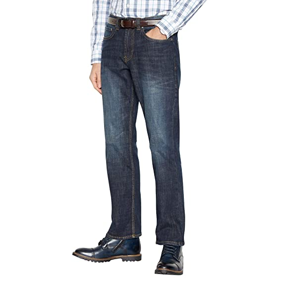 c9f1401e4dc Maine New England Men Dark Blue Vintage Wash Bootcut Fit Jeans ...