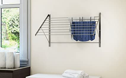 Amazon.com: Clothes Drying Rack Stainless Steel Wall Mounted ...