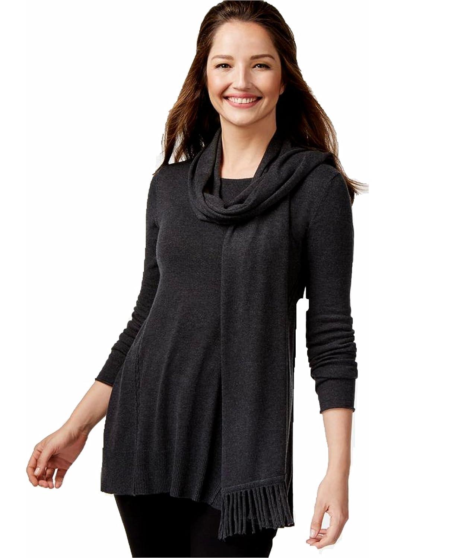 Alfani Fringe Scarf Swing Sweater Size XL