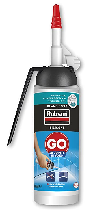 Rubson 2255259 GB I Enclosed Spray Silicone Sealant, White, 100 ml ...