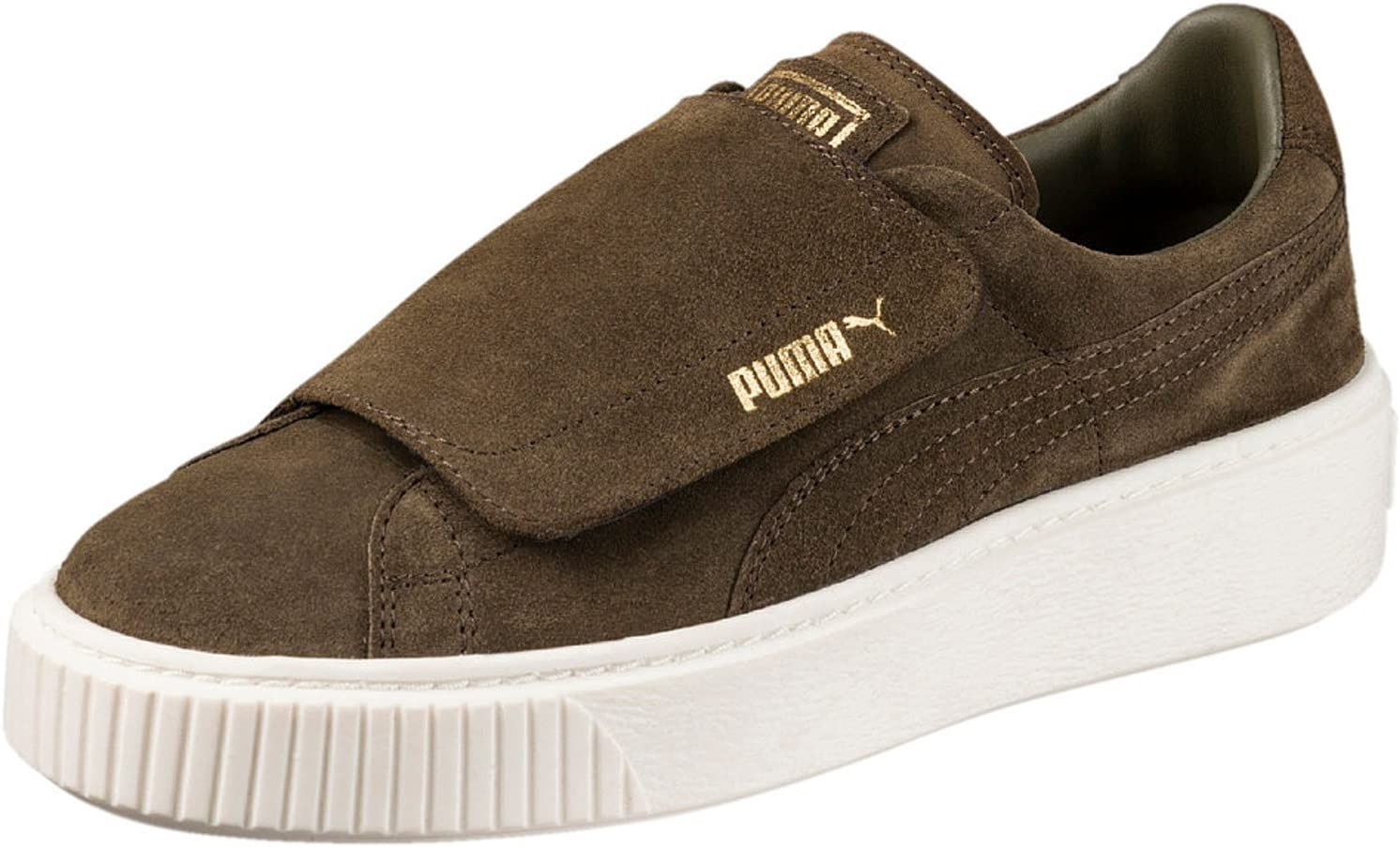 Puma Suede Platform Strap W chaussures olive night: Amazon