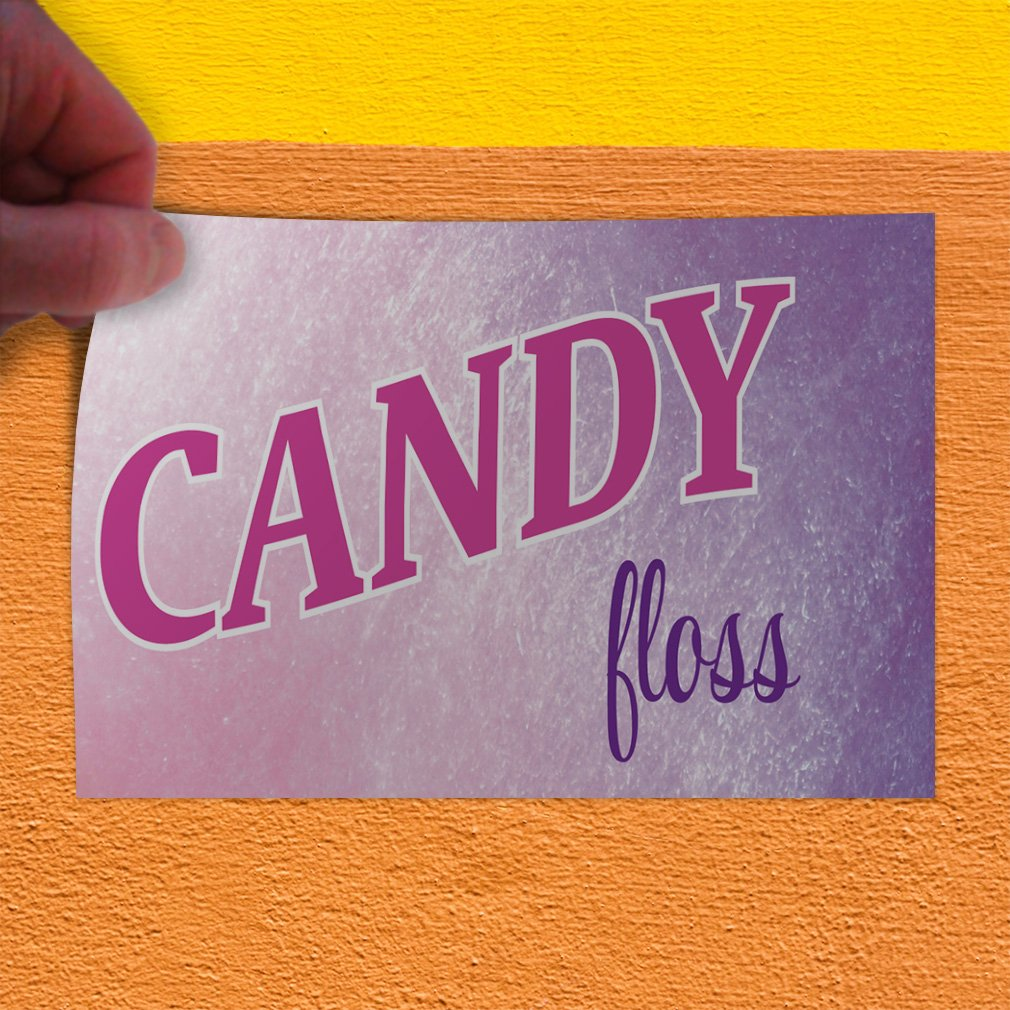 One Sticker Decal Sticker Multiple Sizes Candy Floss #1 Retail Candy Floss Outdoor Store Sign Pink 69inx46in