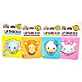 Lipsmacker 迪士尼 Tsum Tsum Tsum 润唇膏,Dumbo/Donald Duck/Marie/Tigger,4 只装