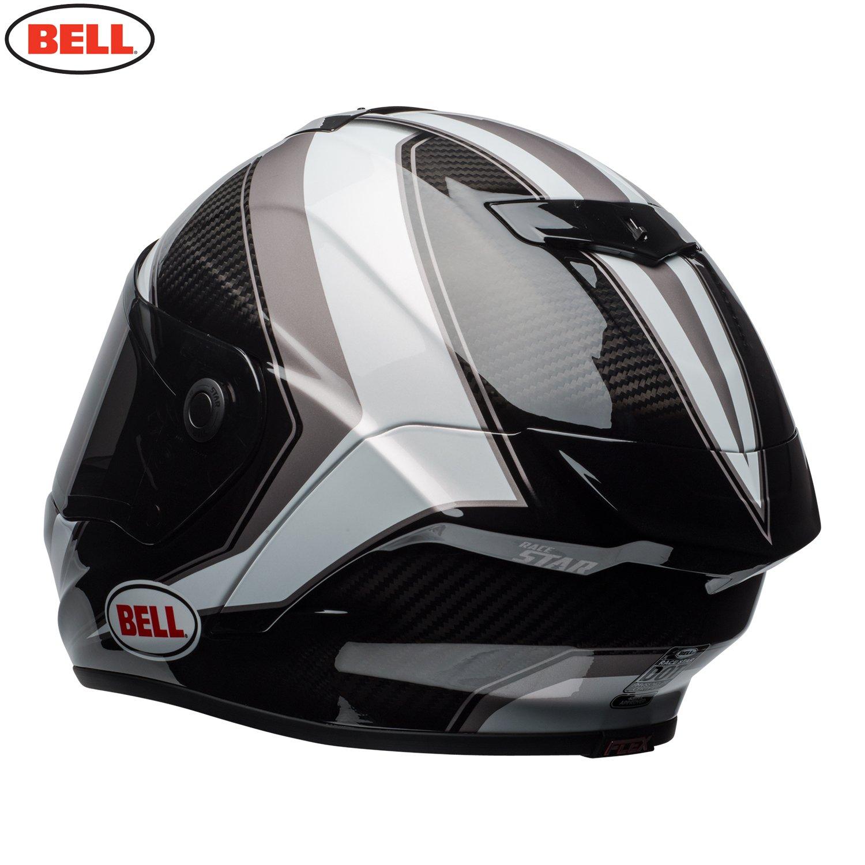 Sector White//Titanium 2XL Bell 2018 Race Star Full Face Motorcycle Helmet