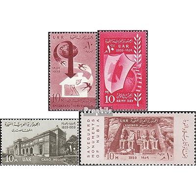 égypte 570,592,595,596 (complète.Edition.) 1959 émigrés, armée, le caire, monuments (Timbres pour les collectionneurs)