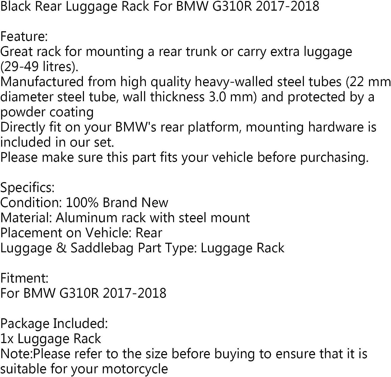 Areyourshop Support arri/ère pour bagage arri/ère Noir Pour B-M-W G310R 2017 2018