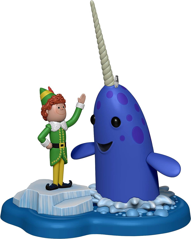 Hallmark Keepsake Christmas Ornament 2020, Elf Buddy's Buddy Mr. Narwhal With Sound