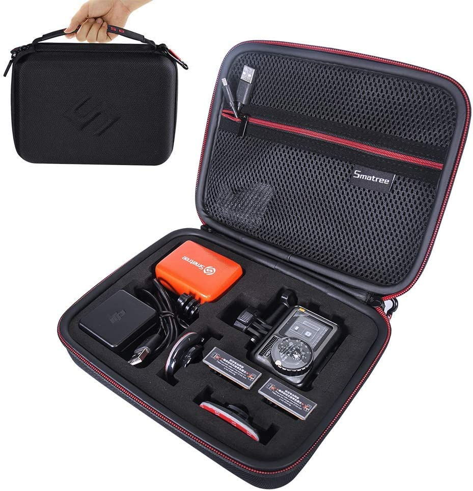 Camera and Accessories Not Included GoPro HERO 8//7//6//5//4//3//2//1 and DJI Osmo Action Blue Smatree Hard Shell Carrying Case for GoPro Hero 2018