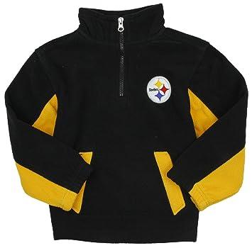 pretty nice ae0d4 81d7f Pittsburgh Steelers NFL Little Boys 1/4 Zip Micro Fleece Sweater, Black