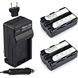 Newmowa NP-FM500H Replacement Battery (2-Pack) and Charger Kit for Sony Alpha A57 A58 A65 A77 A99 A500 A550 A560 A580…
