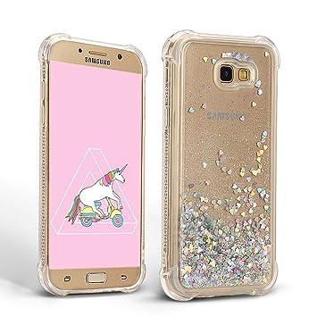 Mosoris Carcasa para Samsung A3 2017, Silicona Bling Arena Movediza Lentejuela Funda Glitter Líquido Brillar Cubierta Tapa Choque Absorción Cubierta ...