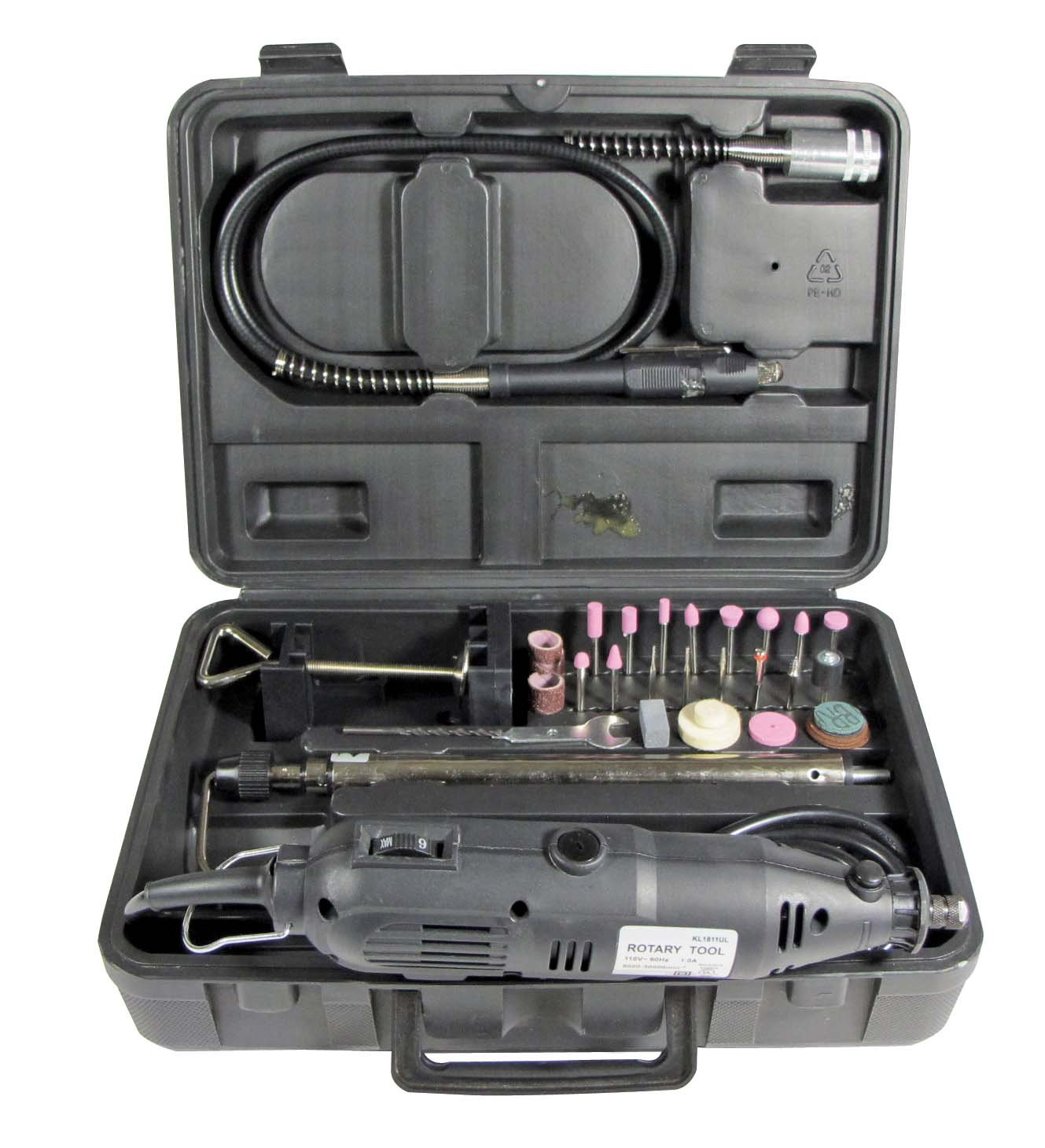 Rotary Tool Set with Flexible Shaft and Stand - Adjustable Speed