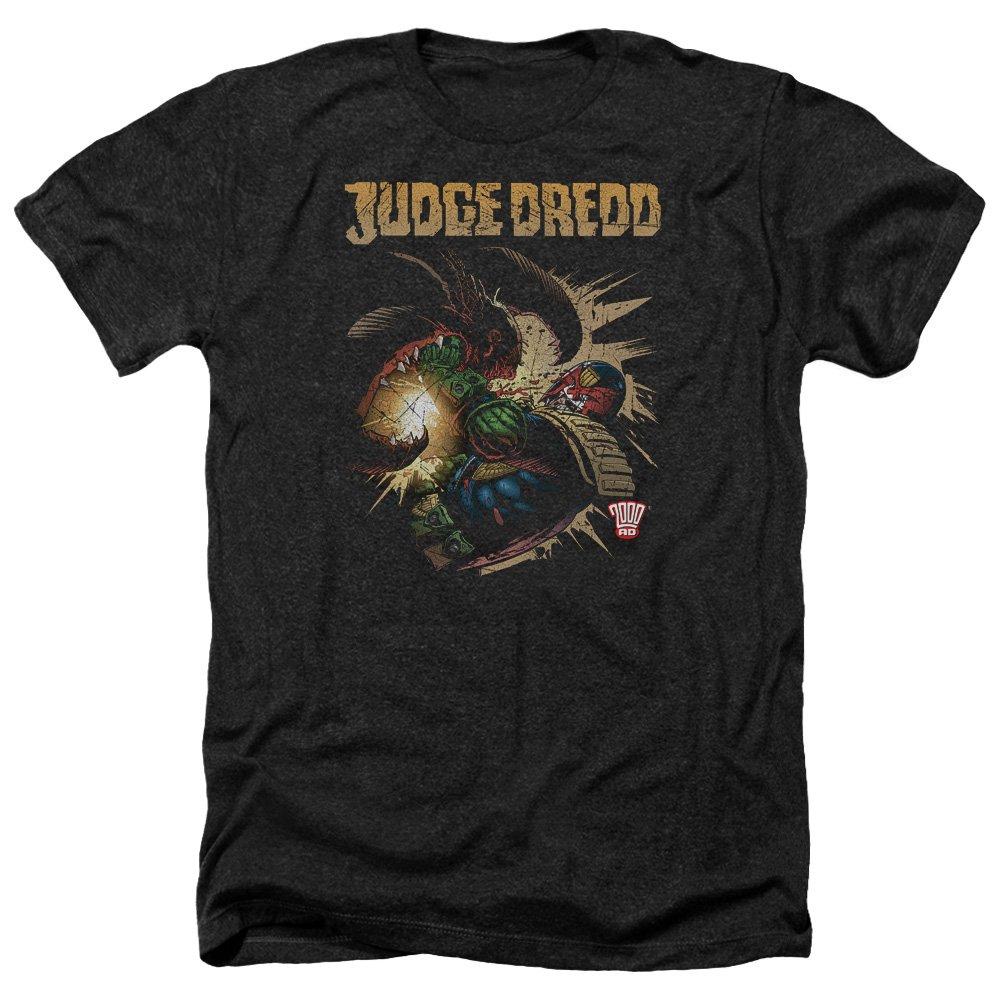 Trevco Mens Judge Dredd Blam Heather Adult T-Shirt