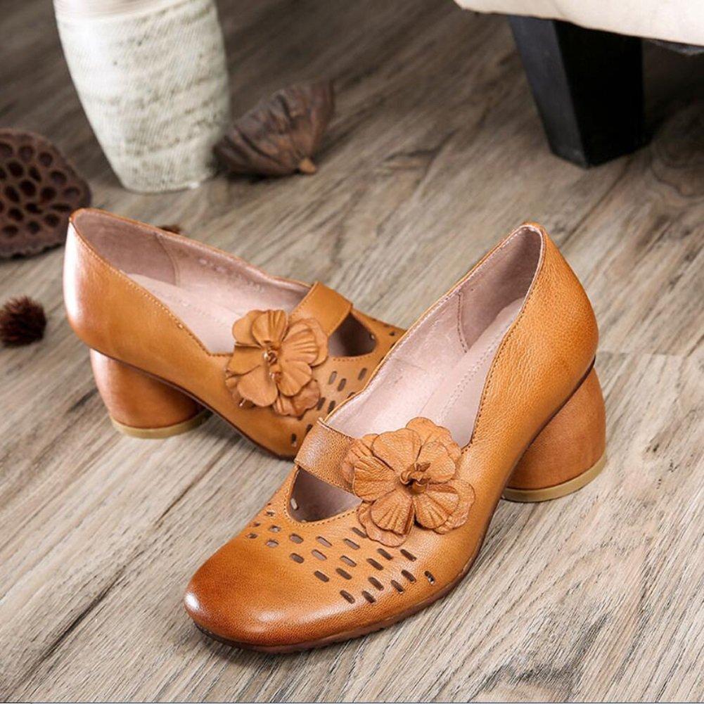 XUE Damenschuhe Leder Frühjahr Sommer Loafers & Slip-Ons Slip-Ons Slip-Ons Driving Schuhe National Style Sandalen Hausschuhe & Flip-Flops Persönlichkeit Wanderschuhe aushöhlen Büro atmungsaktiv c5685a