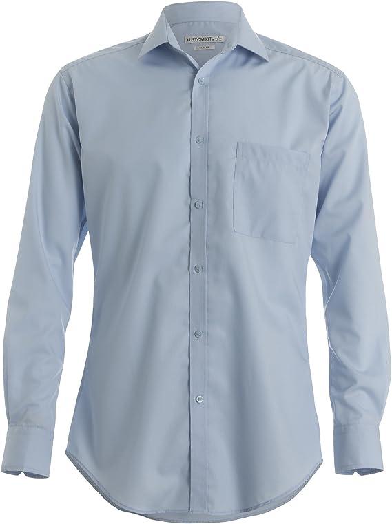 KUSTOM KIT - Camisa Entallada y de Manga Larga Non-Iron Modelo Premium Hombre Caballero: Amazon.es: Ropa y accesorios