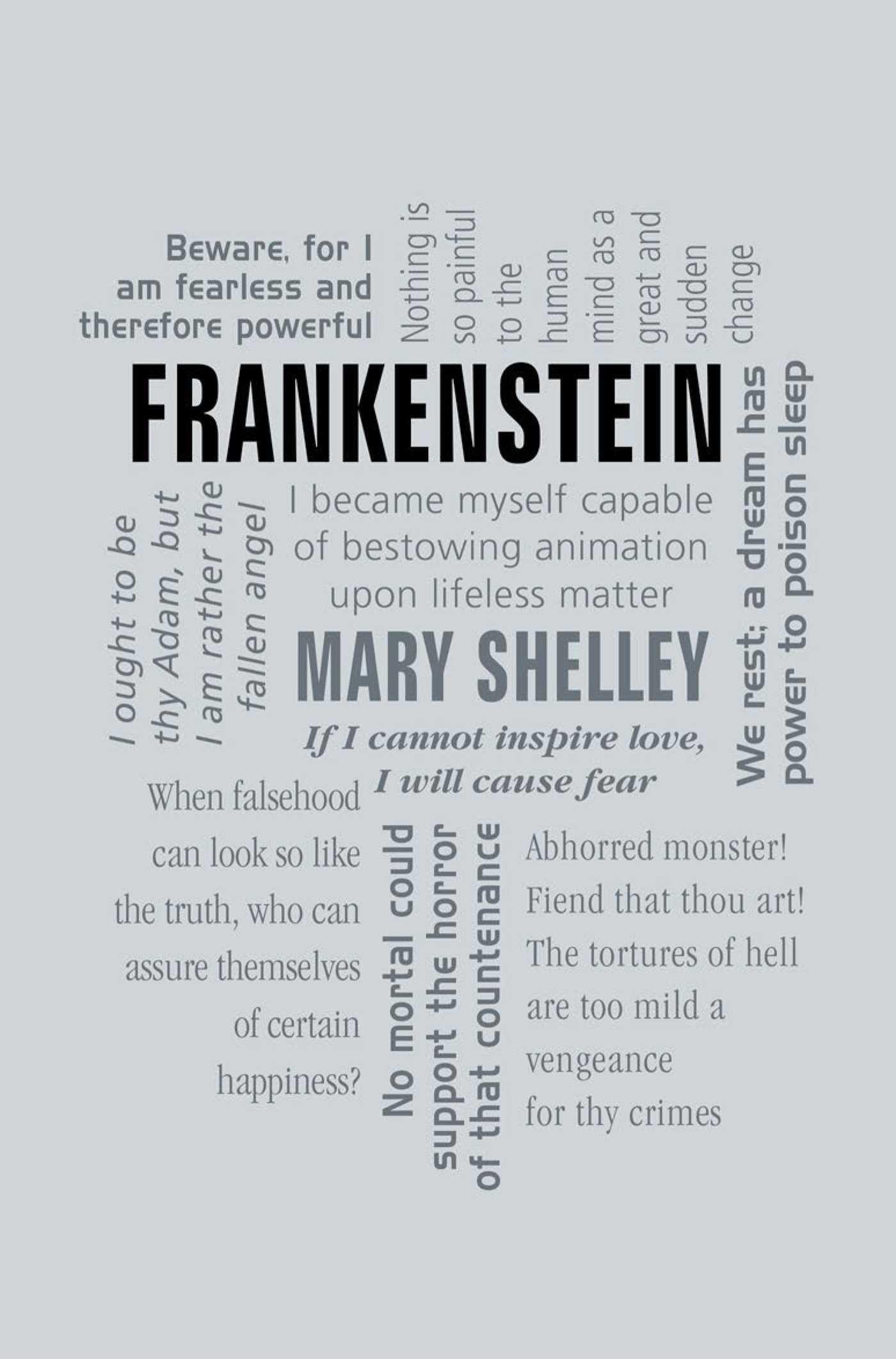 Amazon.com: Frankenstein (Word Cloud Classics) (9781607109457): Mary  Shelley: Books
