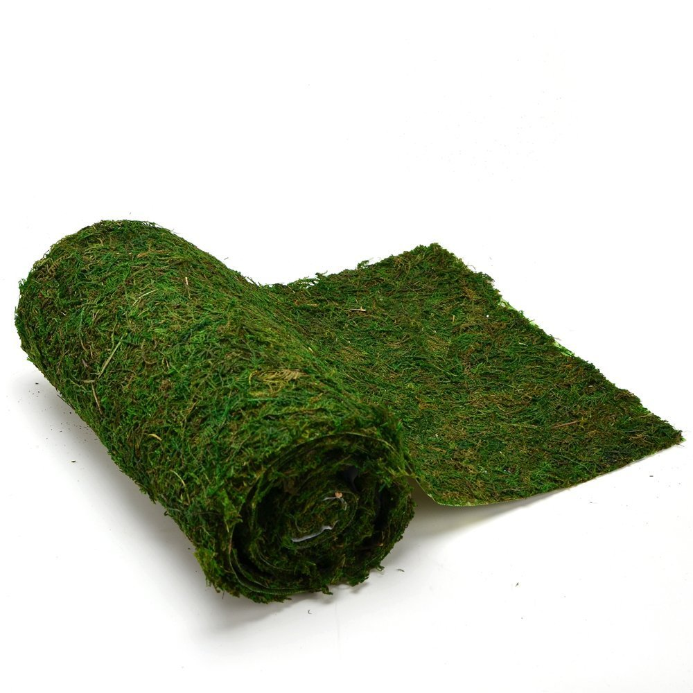 Byher Dried Moss Table Runner for Party Garden Decoration, Dark Green (30cm X 180cm (12'' x 71'')) by Byher