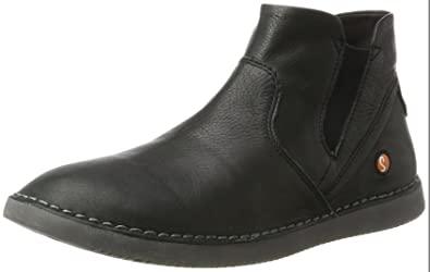 Softinos Damen Indira Smooth Chukka Boots, Schwarz (Black), 36 EU