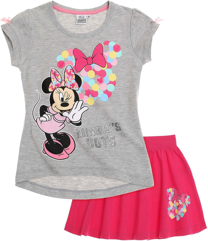 Disney Minnie Chicas Falda y Camiseta - Fucsia - 140: Amazon.es ...