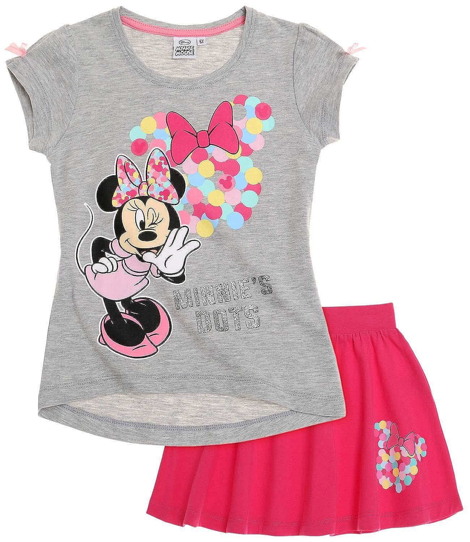 Disney Minnie Chicas Falda y camiseta - fucsia - 128: Amazon.es ...