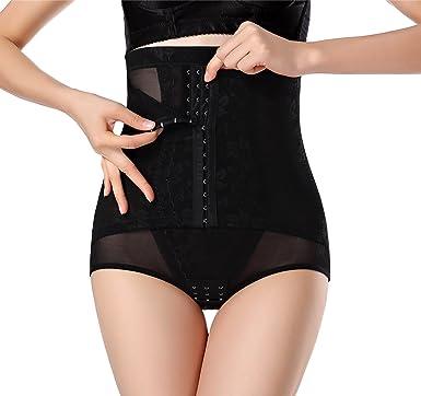 be93bbb58e DODOING Women 3 Hook   Eye Body Shaper Butt Lifter Hi-Waist Tummy Control  Panties