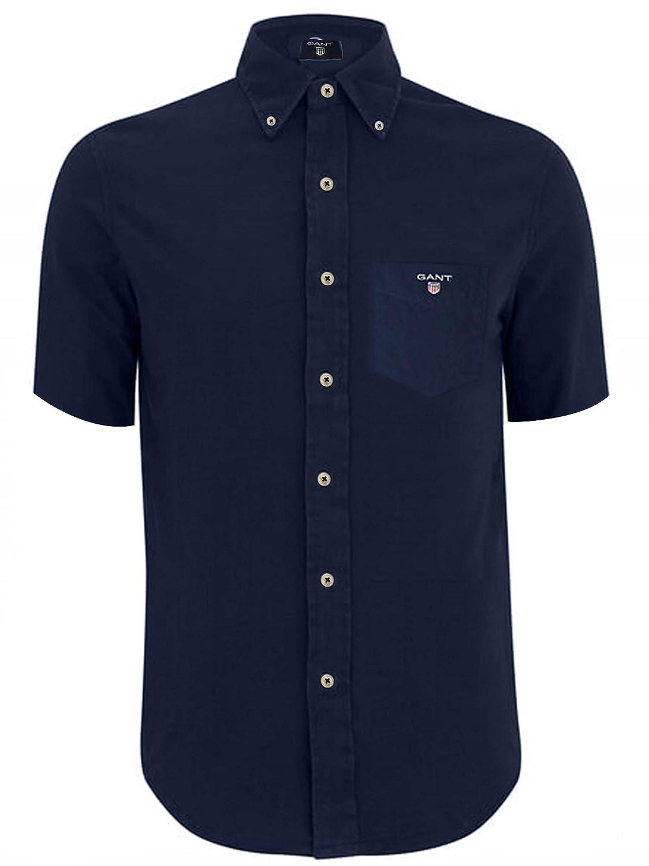 GANT Navy Classic Short Sleeve Broadcloth Shirt