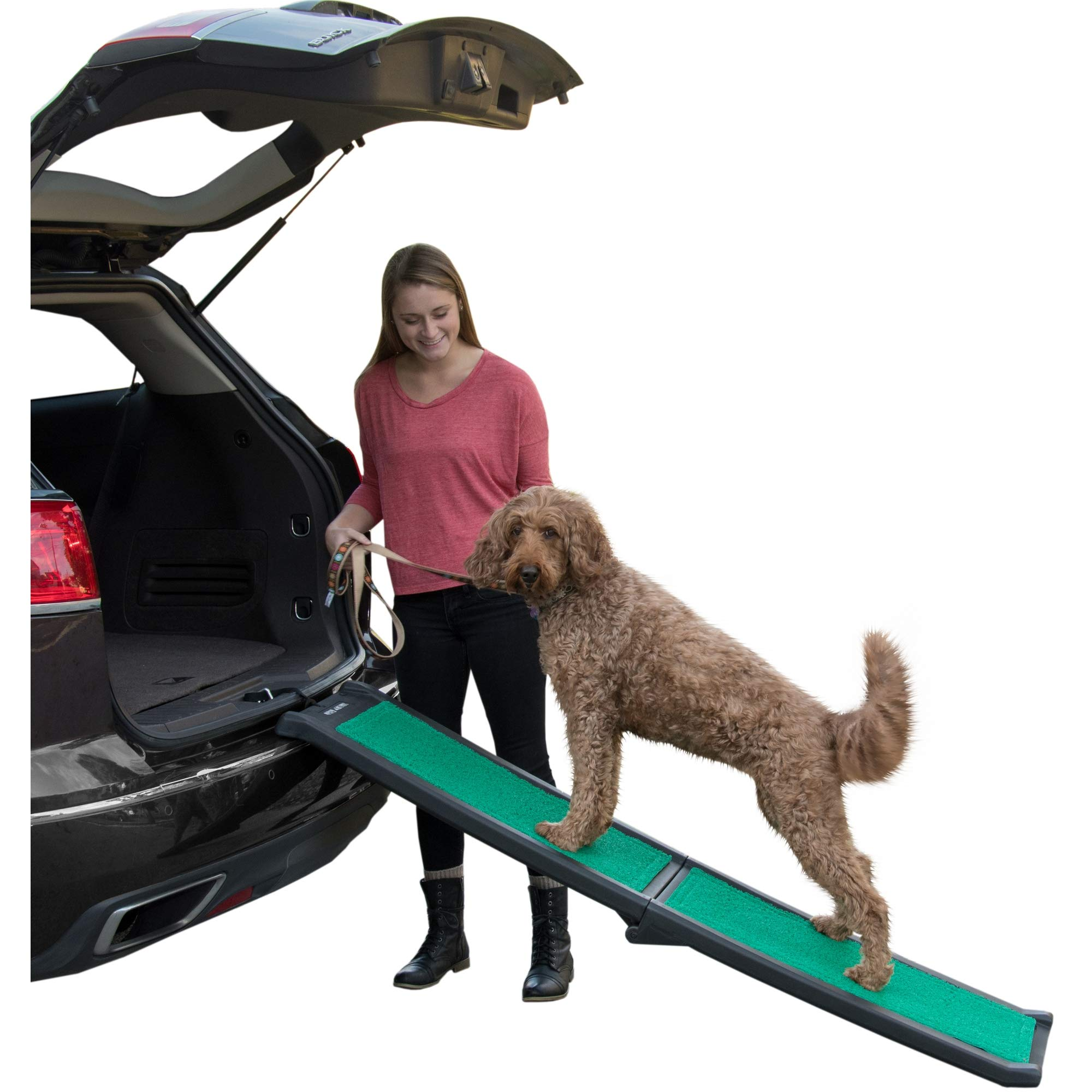 Pet Gear Travel Lite Ramp with supertraX Surface for Maximum Traction, 4 Models to Choose from, 66 in. Long, Supports 150 -200 lbs, Find the Best Fit for Your Pet by Pet Gear
