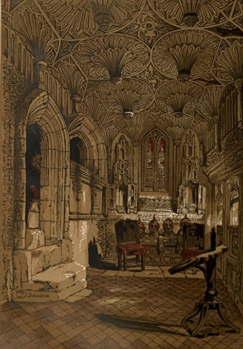 Leighton Bros Old England c.1860 Chantry chapel Poster Print by ...