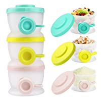 Zooawa Baby Formula Dispenser, Non-Spill Stackable Milk Powder Formula Container...