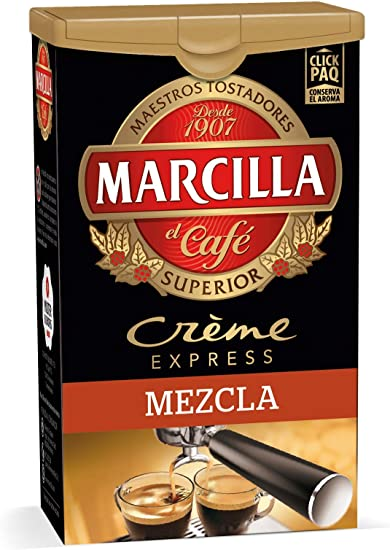 MARCILLA Crème Express Café Molido Mezcla - 250 g: Amazon.es ...