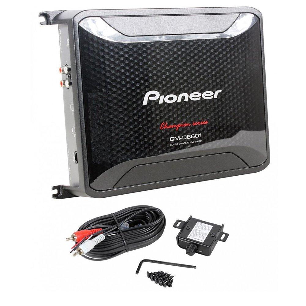 Pioneer 4 Gauge 1600W Monoblock Class-D Car Amplifier Kicker 12'' Single 4 ohm Shallow-Mount Car Subwoofer And 4 Gauge Amp Kit by Cache, Kicker, Pioneer (Image #2)