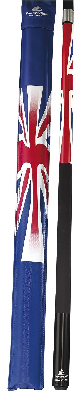 Taco internacional de billar dise/ño de bandera de Reino Unido 144 cm, unisex Powerglide