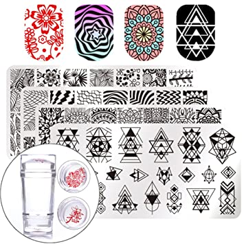 amazon com born pretty nail art stamp stamping templates stamper