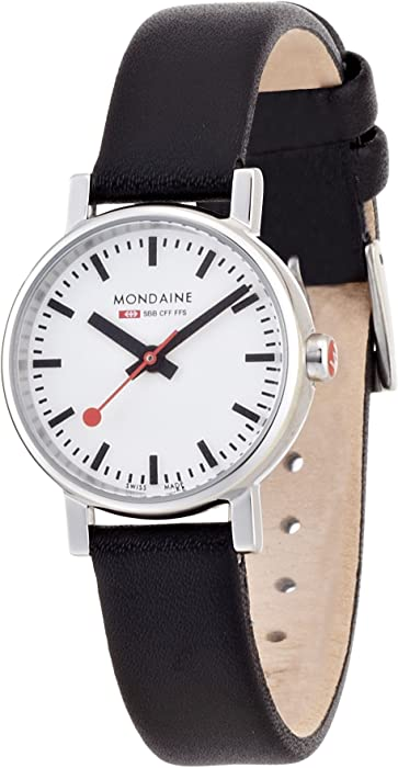 Mondaine SBB Evo 26mm A658.30301.11SBB Reloj de pulsera Cuarzo Mujer correa de Cuero Negro