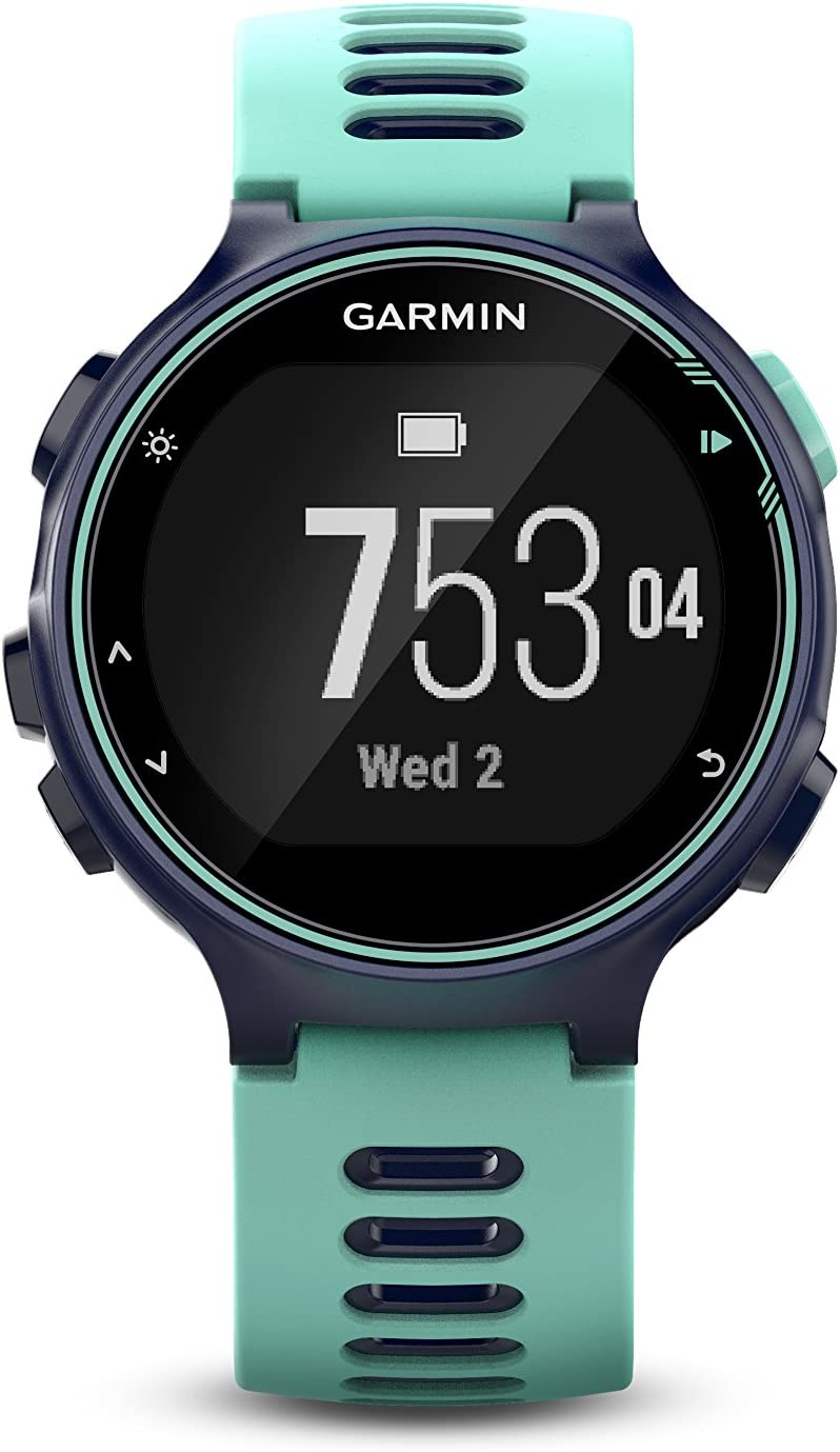 Garmin Forerunner 735XT, Multisport GPS Running Watch with Heart Rate, Midnight/Frost Blue