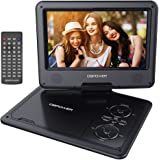 DBPOWER 9.5'' Portable DVD Player, 5 Hour Rechargeable Battery, Swivel Screen, Supports SD Card and USB, With Game Controller+ Car Charger