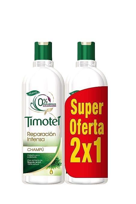 Timotei Champú 2 en 1 Reparación Intensa Rosa de Jerico - 400 ml