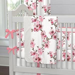 Carousel Designs Cherry Blossom Crib Blanket