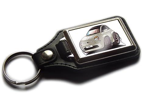Fiat 500 Hatch Back KOOLART - Llavero de piel y cromo ...
