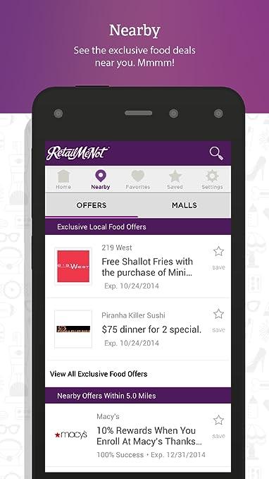 Amazon.com: RetailMeNot Coupons: Appstore para Android