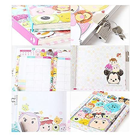 Disney Tsum Tsum Secret Locking Diary Mickey Minnie Monster Stitch (Random)