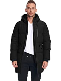 Alpine North Mens Mens Vegan Down Winter Puffer Coat Down Alternative Coat