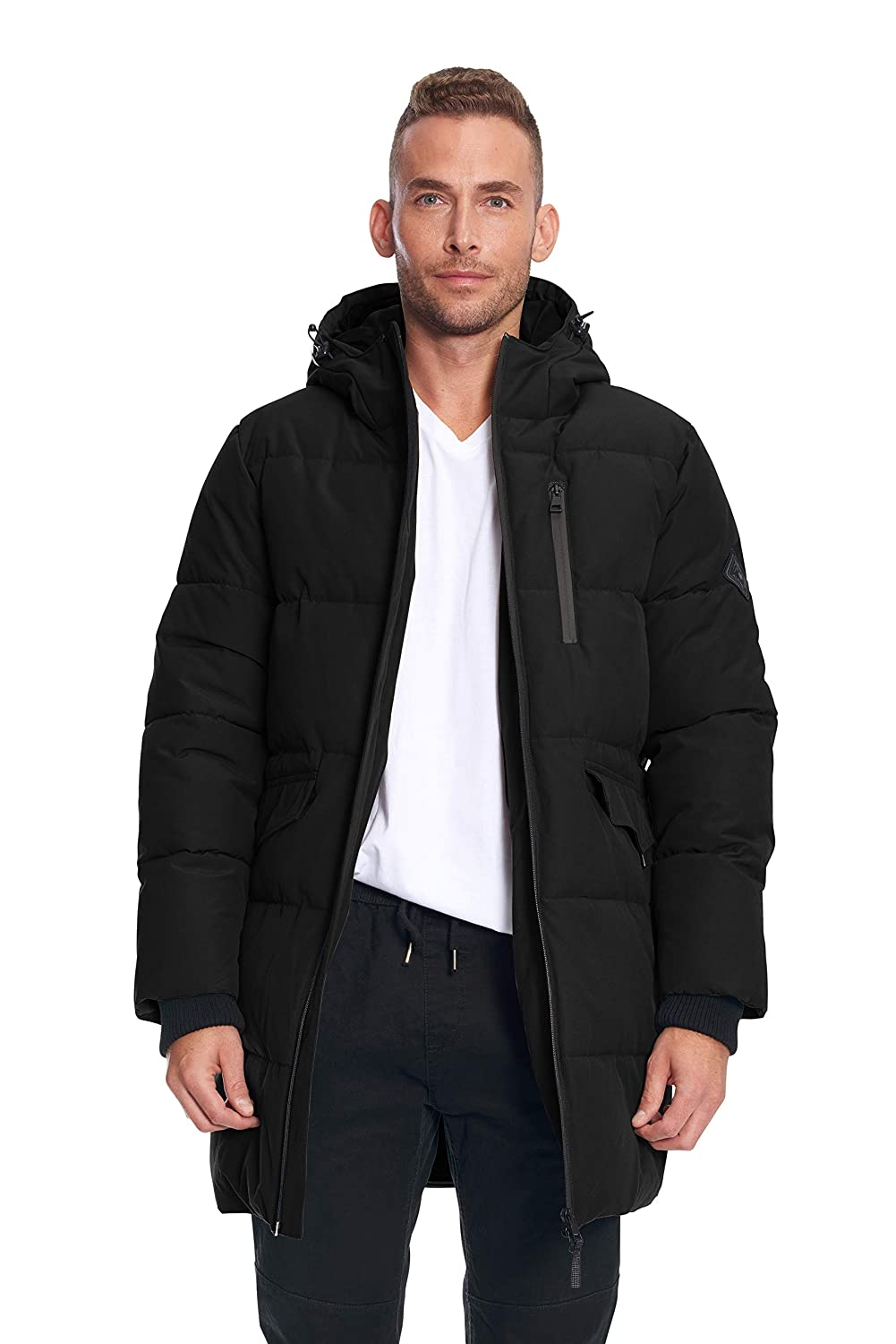 Image of Alpine North Mens Vegan Down Winter Puffer Coat Down & Down Alternative