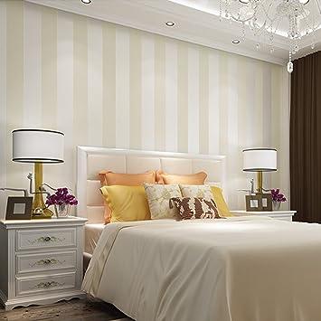 Grüne Tapete Nonwovens Einfache Dreidimensionale Breit Gestreiften Zimmer Schlafzimmer  Tapeten Weiß,Beige