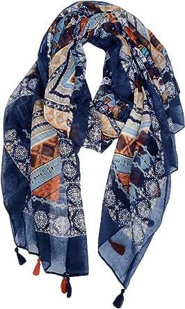 DOCILA Aztec Pattern Shawl, Womens Summer Wrap Scarf