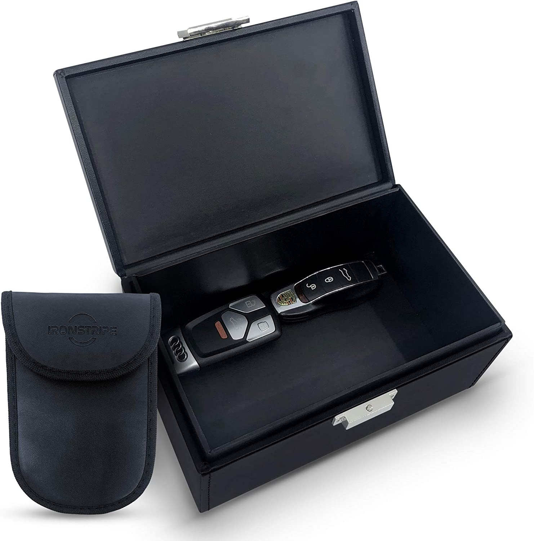 Ironstripe Keyless Go Schutz Autoschlüssel Box Extra Groß 19 X 12 X 9 Cm Faraday Box Diebstahlschutz Keyless Go Schutz Box Extra Faraday Schlüsseltasche Auto