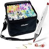 Ohuhu Markers Brush Tip, Alcohol Art Marker Set for Kids Adults Coloring Illustration, Artist Alcohol-Based Brush Markers, 12