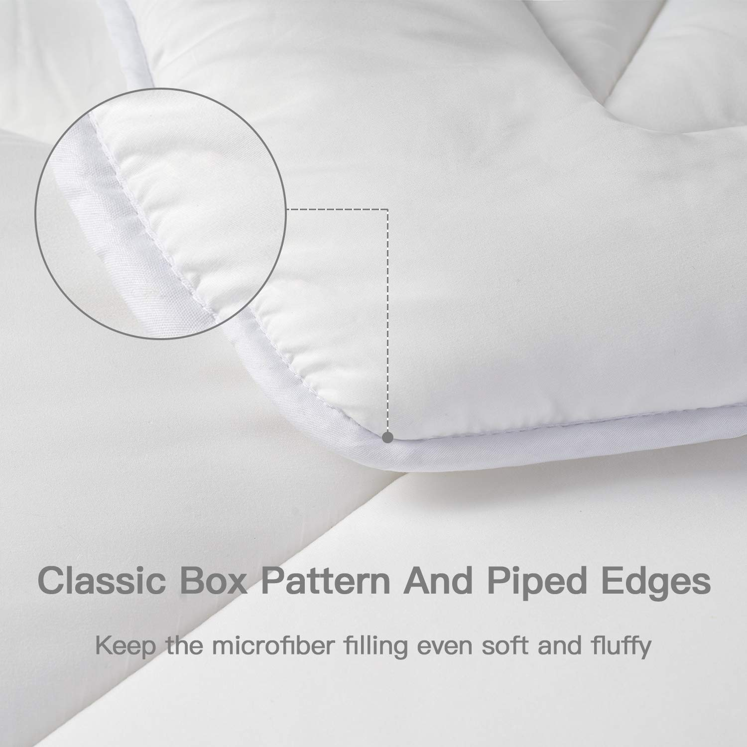 Twin 350 GSM OEKO-TEX Certified BedStory Bedding All Season Comforter - Warm Fluffy Box-Stitching Comforter for Twin Bed Hotel Down Alternative Quilted Comforter with Soft Plush Microfiber Fill