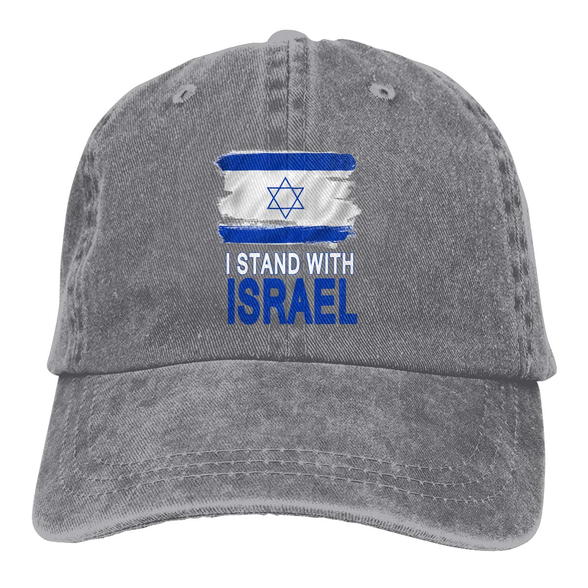 Israel Independence Day 70th Unisex Custom Jeans Hip Hop Cap Adjustable Baseball Cap