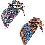 DuoZan New Women's Cotton Flower Elastic Turban Beanie Head Wrap Chemo Cap Hair Loss Hat